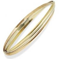 9ct Gold Russian Style Bangle